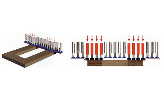 Tampone finitore versione elettronico-pneumatica